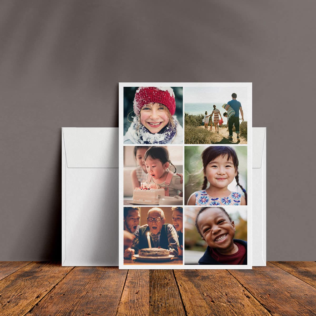 High quality flat photo card print 5x5 5x7